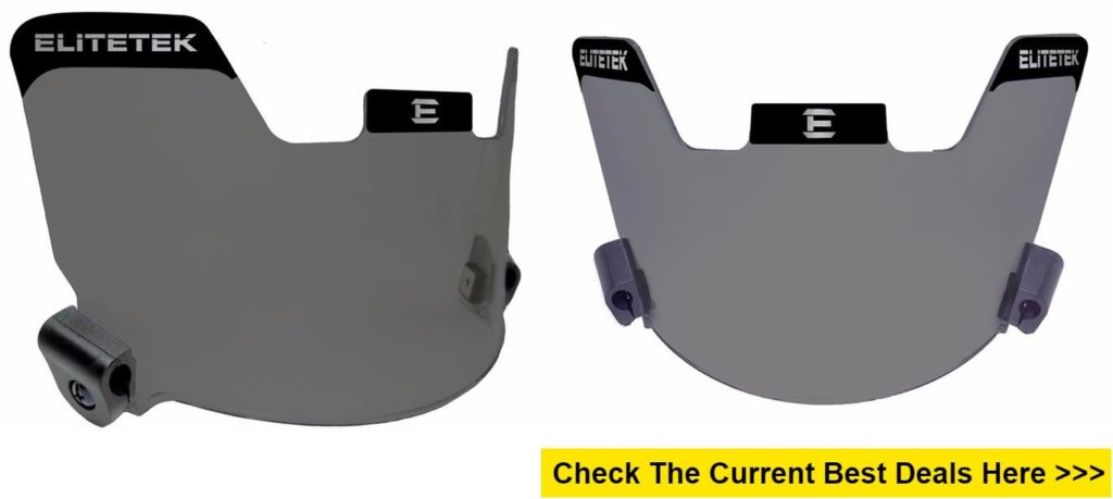 EliteTek Football Eye-shield Visor Smoke Tinted