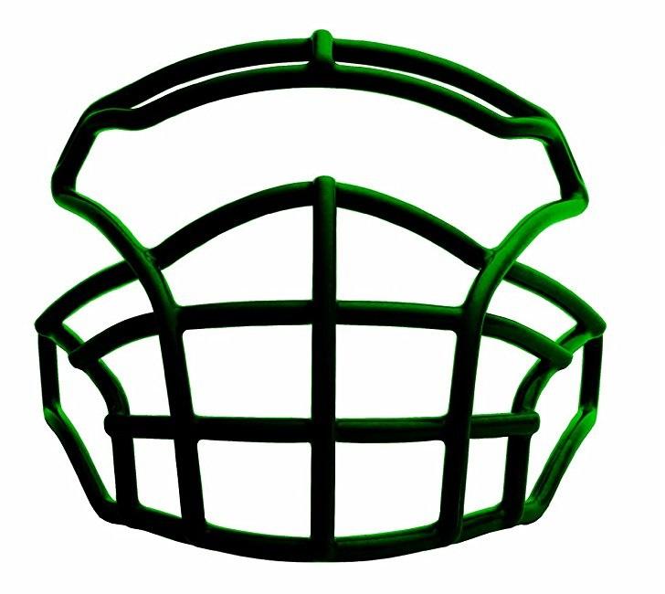 Xenith Pursuit Football Facemask, Dark Green