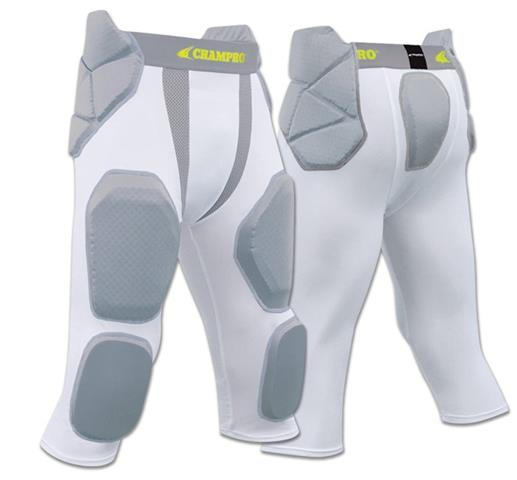 FPGU7 Champro Man Up 7 Pad Girdle football pant CH white color