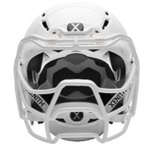 Large Xenith Epic Adult Football Helmet White with Attached Black Prime Face Mask