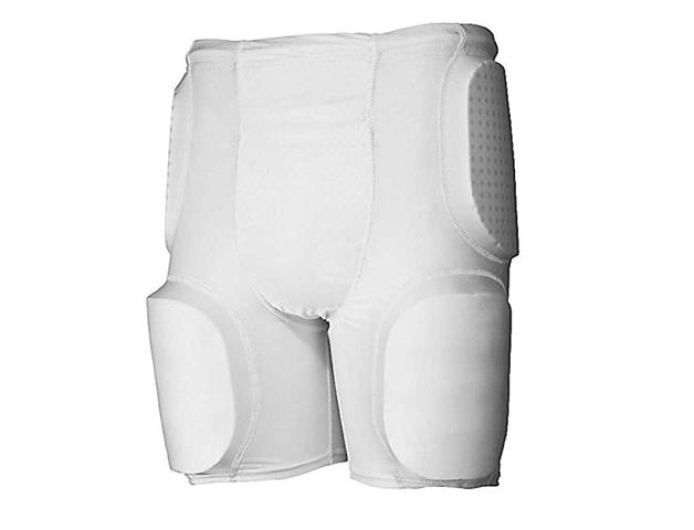 Rawlings Youth 5-Pad Integrated Football Girdle White