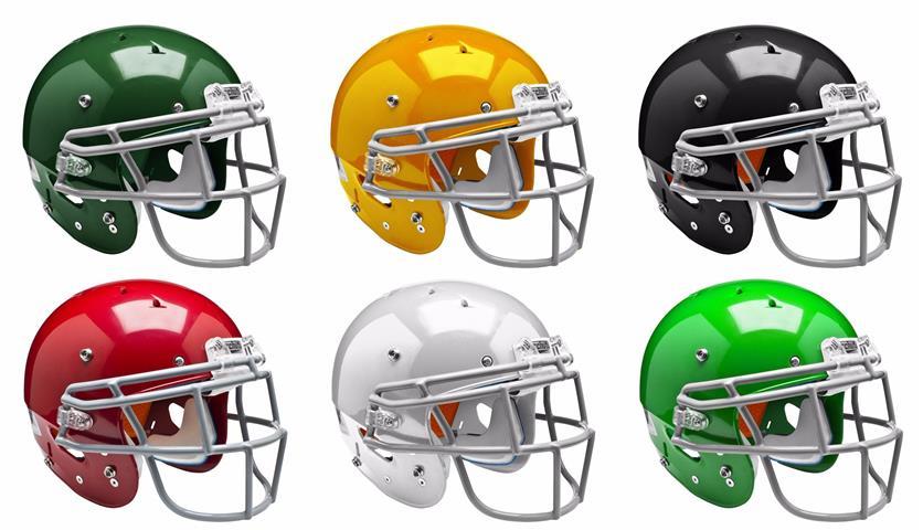 Schutt Sports 798004 Youth Recruit Hybrid Football Helmet Faceguard Not Included