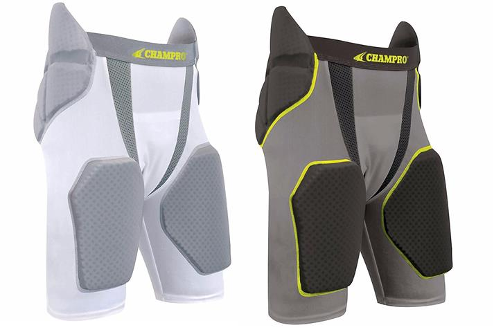 TRI-FLEX Integrated Football Girdle with Built in Hip-Tail and Thigh Pads by Champro