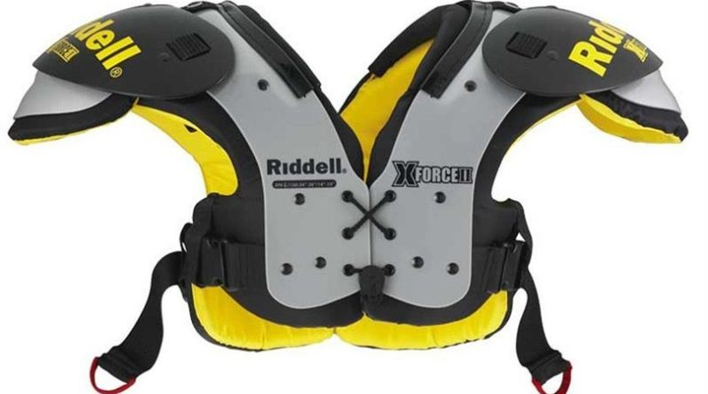 The Riddell X-Force II JR Varsity All Purpose Flat Football Shoulder Pads