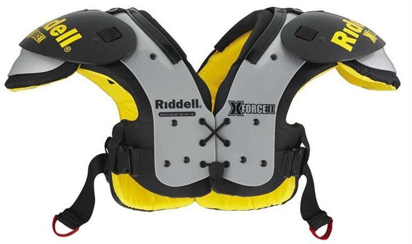 The Riddell X-Force II JR Varsity All Purpose Flat Football Shoulder Pads