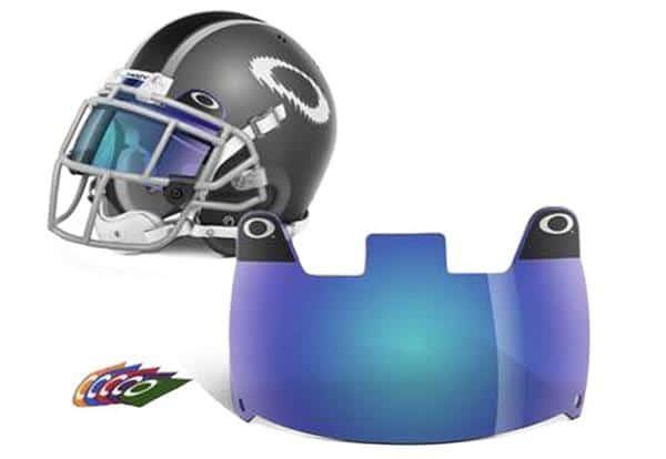 Blue Oakley Football Eyeshield