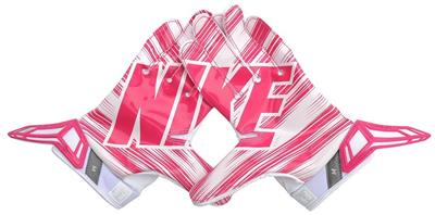 pink football receiver gloves