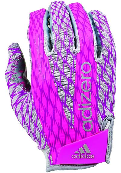 adidas adiZERO 4.0 Adult Football Receiver's Pink Gloves