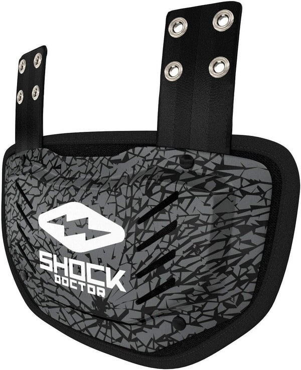 shock doctor football back plate